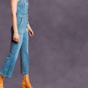 ***HOLD***7 FOR ALL MANKIND WHTN Corset Tank Denim Jumpsuit